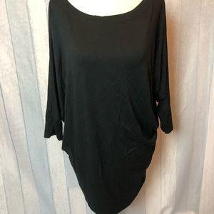 41 Hawthorn Stitch Fix Black Long Sleeve Blouse